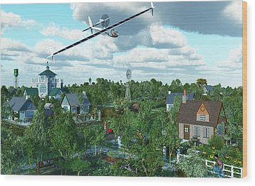 Solar Flight Wood Print by Diana Morningstar