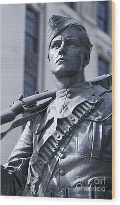 Soldier Wood Print by Igor Kislev