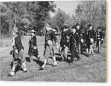 Soldiers March Black And White IIi Wood Print by LeeAnn McLaneGoetz McLaneGoetzStudioLLCcom