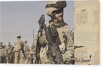 Soldiers. Wood Print by Red Deviant
