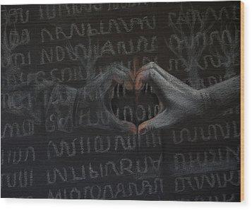 Soldier's Sacrifice Wood Print by Joanna Gates