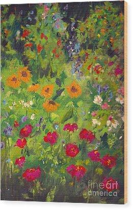 Solebury Garden Wood Print
