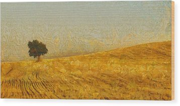 Solitude Is Golden Wood Print by Aaron Stokes