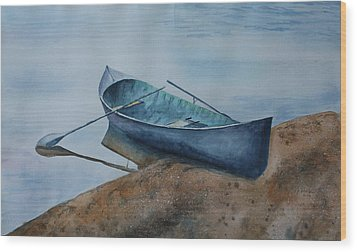 Wood Print featuring the painting Solitude by Patsy Sharpe