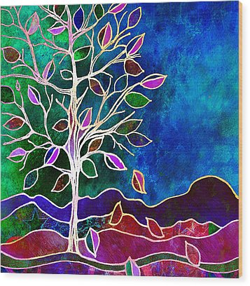 Solstice Evening Wood Print by Robin Mead