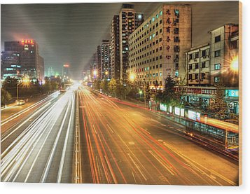 Some Beijing Street Wood Print by Tony Shi Photography
