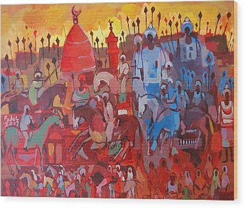 Some Of The History1 Wood Print by Mohamed Fadul