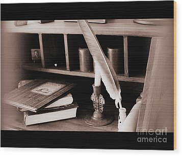 Wood Print featuring the photograph Some Things Belong On Paper  by Nancy Dole McGuigan