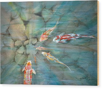 Something Fishy Wood Print by Mohamed Hirji