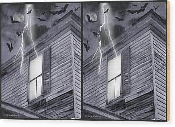 Something Wicked - Cross Your Eyes And Focus On The Middle Image Wood Print by Brian Wallace