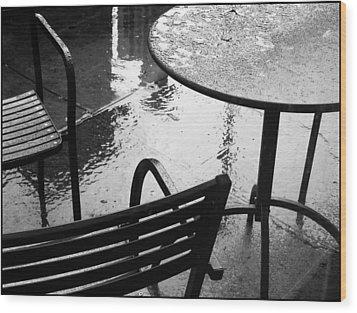 Sometimes It Rains Wood Print by Anne McDonald