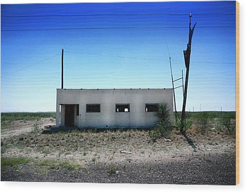 Wood Print featuring the photograph Somewhere On The Old Pecos Highway Number 1 by Lon Casler Bixby