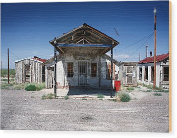 Wood Print featuring the photograph Somewhere On The Old Pecos Highway Number 4 by Lon Casler Bixby