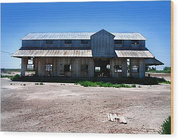 Wood Print featuring the photograph Somewhere On The Old Pecos Highway Number 6 by Lon Casler Bixby