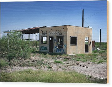 Wood Print featuring the photograph Somewhere On The Old Pecos Highway Number 7 by Lon Casler Bixby
