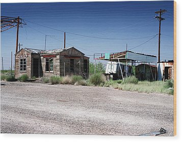Wood Print featuring the photograph Somewhere On The Old Pecos Highway Number 8 by Lon Casler Bixby