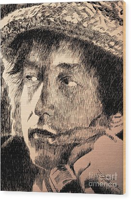Song And Dance Man Wood Print by Robbi  Musser