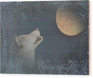 Song To The Moon Wood Print by Debra     Vatalaro