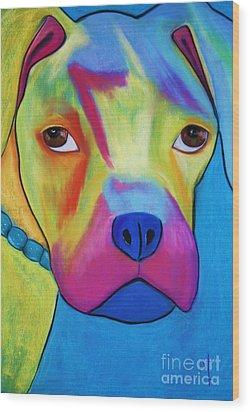 Sonny Blu Wood Print by Melinda Etzold