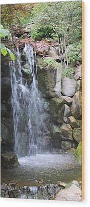 Wood Print featuring the photograph Soothing Waterfall by Bruce Bley