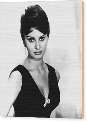 Sophia Loren, 1960 Wood Print by Everett
