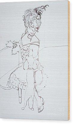 Sophiea And Lu Lu Wood Print by Joanne Claxton
