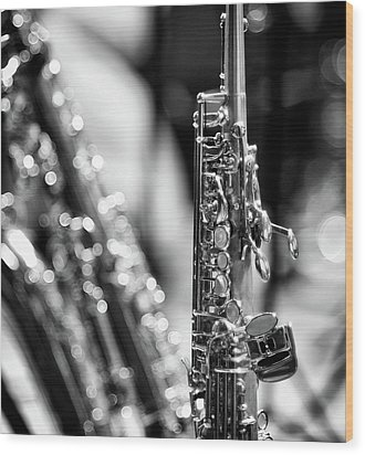 Soprano Saxophone Wood Print by © Rune S. Johnsson