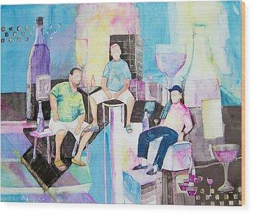 Sorrento Dock Wood Print by Regina Ammerman