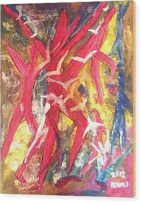 Soul Dance 1 .. Flight Wood Print by Rooma Mehra