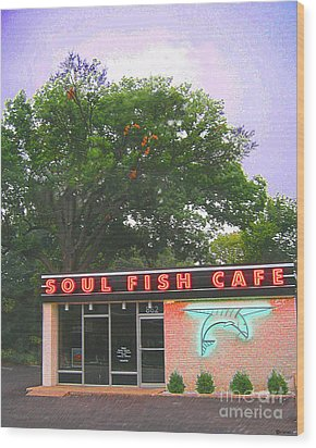 Soul Fish Wood Print by Lizi Beard-Ward