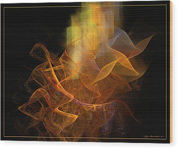 Wood Print featuring the digital art Soul Flower by Sipo Liimatainen