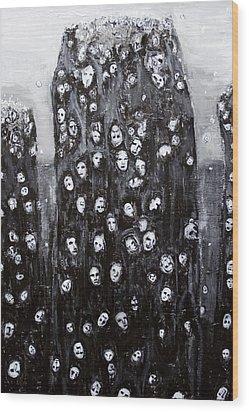 Soul Groups Wood Print by Kazuya Akimoto