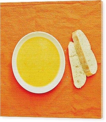 Soup Wood Print by Tom Gowanlock