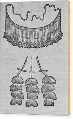 Soursop Seeds Used As Necklace Wood Print by Middle Temple Library
