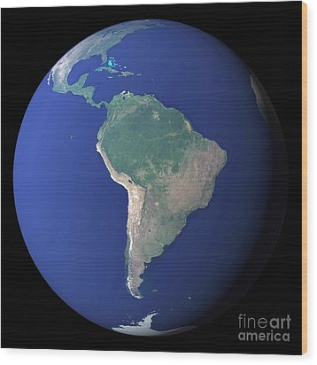 South America Wood Print by Stocktrek Images