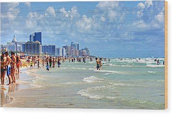 South Beach Wood Print by Dieter  Lesche