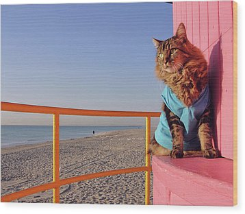Wood Print featuring the photograph South Beach by Joann Biondi