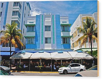 South Beach The Blue Section Wood Print by Eric Tressler