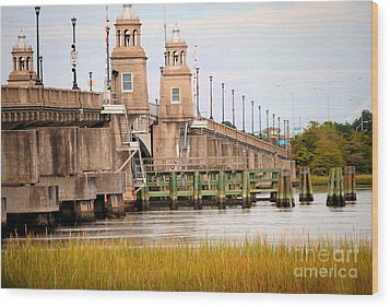 Wood Print featuring the photograph South Carolina Bridge by Tamera James