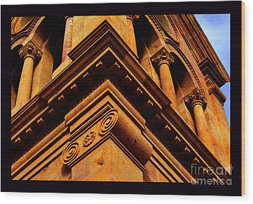 South Corner Of St. Francis Cathedral Wood Print by Susanne Still