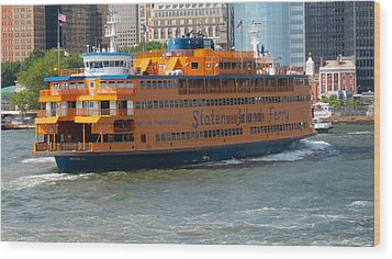 South Ferry Water Ride1 Wood Print by Terry Wallace