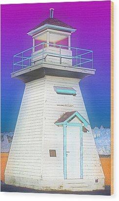 South Hamton Lighthouse 3 Wood Print by Cyryn Fyrcyd