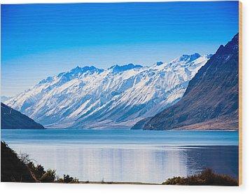 South Island Lake Wanaka New Zealand Wood Print by John White