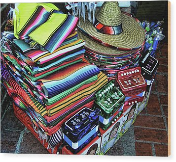 South Of The Border Wood Print by Helaine Cummins
