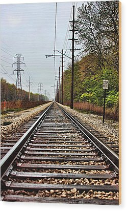 Wood Print featuring the photograph South Shore Line by Joe Urbz