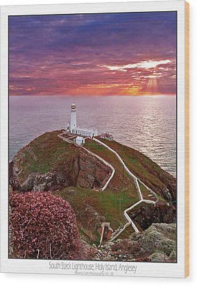 Wood Print featuring the photograph South Stack Lighthouse by Beverly Cash