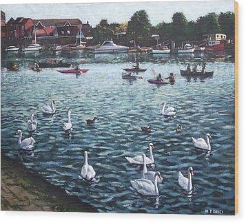 Southampton Riverside Park River Itchen Wood Print by Martin Davey