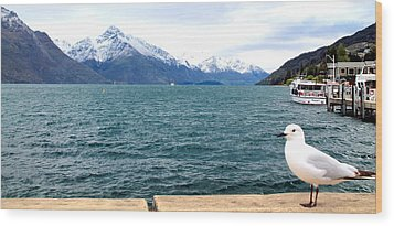Wood Print featuring the photograph Southern Alps Across Lake Wakatipu by Laurel Talabere