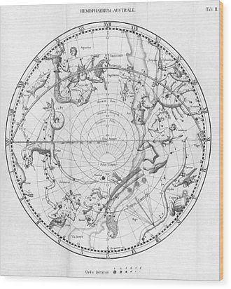 Southern Celestial Map Wood Print by Science, Industry & Business Librarynew York Public Library