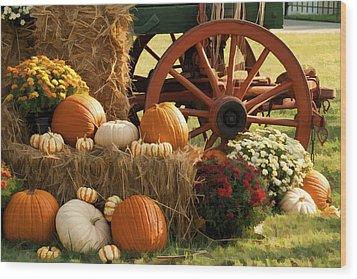 Southern Harvestime Display Wood Print by Kathy Clark